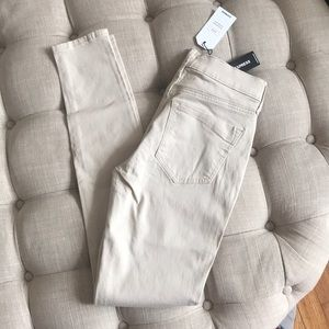 Express cream colored jeggings
